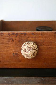 Vintage Dresser Knob w/ Lace