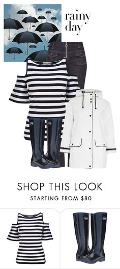 """""""Rainy Day"""" by im-karla-with-a-k ❤ liked on Polyvore featuring Victoria, Victoria Beckham, MICHAEL Michael Kors, Havaianas, Topshop and rainydayoutfit"""