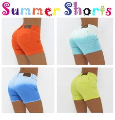 $35.95 Get ready for this summer!!! Colored Shorts! Shop Now > http://www.pompisstores.com/shop/13-shorts