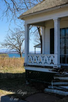 The shore of Lake Champlain in Essex, NY Lake Champlain, Porches, Home Projects, Exterior, House Design, Plants, Photos, Front Porches, Pictures