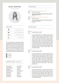 Sjabloon voor moderne CV & Cover brief pictogram instellen