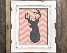 Baby Deer Nursery Print Pink Little Fawn by NorthernRustication