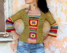 Sweater recycled cool jacket street boho style by jamfashion