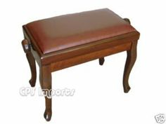 """Walnut Leather Classic Adjustable Piano Bench by CPS. Save 63 Off!. $179.99. The Classic Adjustable Piano Bench is 21 1/2"""" long and 13"""" deep. It weighs about 20 pounds. Its height can be adjusted from 18"""" to 21"""".  The classic adjustable piano bench is made of solid hard wood with heavy duty mechanism. The seat is covered with 100% premium genuine leather. The leather we use on our bench is the top quality leather you can find. It's thick and soft. Each one is hand picked by our ..."""