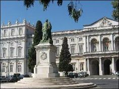 Ajuda Palace - Belem, Portugal;  this palace was never completed as planned due to the exile of the royal family in Brazil caused by the Napoleonic invasion