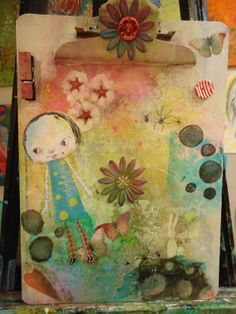Original mixed media painting on a standard sized by MarieStarkART, $42.00