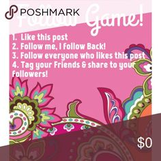 FOLLOW GAME!🍦 🍦Like, Follow, Share!!! Help me Reach my goal of 8k Followers!!!! In return you will gain followers as well!! Win win for Everyone involved! HAPPY POSHING 🍦 Longchamp Accessories
