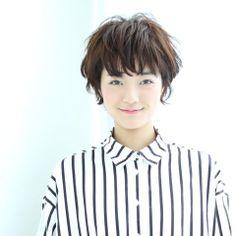 ニュアンスウェーブ ショート ヘアスタイルカタログ 髪型 HAIRstyle 美容室 可愛い shorthair