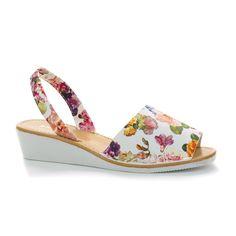 Nicola02 Peep Toe Slingback Spanish Low Wedge Heel Sandals