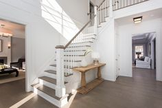 Straight Staircase Entry Design Ideas, Pictures, Remodel and Decor