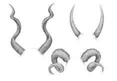 What You'll Be CreatingThe theme of this tutorial is drawing animal horns with graphite pencils, but before we proceed to the artistic part, let's dwell on the terminology just for a moment.A horn. Satan Drawing, Demon Drawings, Dark Art Drawings, Easy Drawings, Animal Drawings, Drawing Sketches, Pencil Drawings, Illustrator Tutorials, Art Tutorials