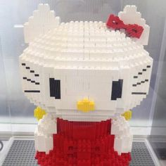 """LEGO Hello Kitty - If you ♥ LEGO, come have a look at LEGO LOVE board http://pinterest.com/almaisoncloud9/lego-love - I am the French-Israeli designer of """"Mademoiselle Alma"""". Inspired by my daughter, ALMA, I create Jewelry made from LEGO bricks, SWAROVSKI crystals and of course, a great amount of imagination. *** http://www.facebook.com/MademoiselleAlma Hope you LIKE my Facebook page-shop ♥ & http://www.etsy.com/shop/MademoiselleAlma #LEGO"""