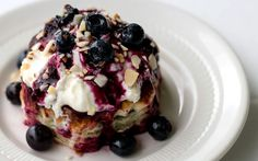 Blueberry Shortcake with Homemade Mascarpone Whipped Topping