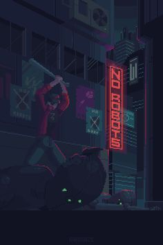 a pixel art piece by me. Animation Pixel, Nail Bat, Pixel Art Gif, Arte 8 Bits, Pixel Art Background, Space Opera, Pix Art, Arte Cyberpunk, Animated Gifs
