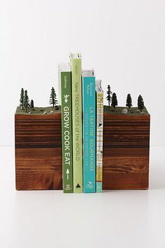 "Chicago based artist, Garth Borovicka, makes these beautiful ""bookends of the Earth"" found on www.tramake.com"