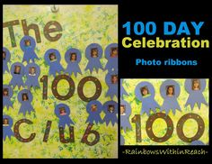 100 Day Party Poster, 100 Day Celebration