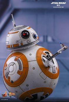 Hot Toys : Star Wars: The Last Jedi - scale Collectible Figure Bb8 Star Wars, Star Wars Fan Art, Star Wars Toys, Star Wars Birthday, Star Wars Party, Star Wars Characters, Star Wars Episodes, Capas Kindle, Star Wars Zeichnungen