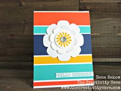 Bright Hello Sunshine by drekow - Cards and Paper Crafts at Splitcoaststampers