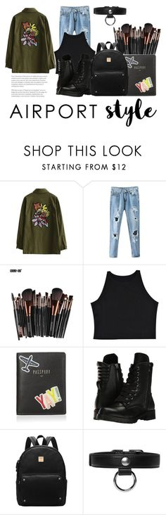 """""""Jet Set: Airport Style"""" by lululafitte ❤ liked on Polyvore featuring FOSSIL, Capezio and Carven"""