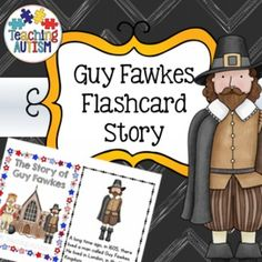 Bonfire Night, Guy Fawkes, Flashcard Story, StoryThis download includes a 12 page mini story book of the Guy Fawkes Gunpowder Plot. Each mini page, is half an actual page size, meaning you cut each page in half. I recommend laminating each page individually and then binding together to make a book - it'll also make it stronger and longer lasting for you.It has been simplified into a short story, with bright, eye-catching graphics. (This download comes in colour/color or black and white…