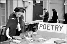 Constantine Manos, USA. Boston, Massachusetts. 1974. Lady at annual book sale, Massachusetts Horticultural Society.