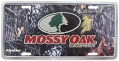Your vehicle can wear camo every day - like you wish you could - with this sturdy plastic license plate. It features the Mossy Oak name on a camouflage backdrop. Here, camo will have you standing out, not blending in. Cool License Plates, Gifts For Hunters, Mossy Oak, Camouflage, Backdrops, Vehicle, Plastic, Frame, Picture Frame