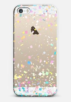 Pastel Confetti Explosion Transparent iPhone 5S Case by Organic Saturation | Casetify Get $10 off using code: 53ZPEA