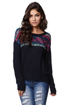 """A Pacsun.com Online Exclusive! The LA Hearts women's Long Sleeve Roll Neck Pullover Sweater features a soft knit construction with ribbed trim and a rolled neckline. We love the knitted in patterns paired with denim or a skirt. 23"""" length 21"""" sleeve length Measured from a size small Model is wearing a small Her measurements: Height: 5'9"""" Bust: 32"""" Waist: 26"""" Hips: 35"""" 76% cotton, 24% rayon Machine washable Imported"""