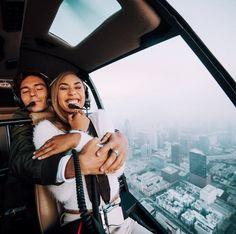 Mylifeaseva - Eva Gutowski - Eva and Adam - cute couple - helicopter