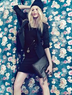 Fashion editorial ♥ love the background and we have something similar to this