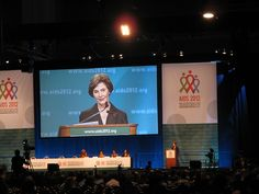 Laura Bush speaking at the closing ceremony at the International #AIDS Conference (#AIDS2012) in Washington, DC. #HIV