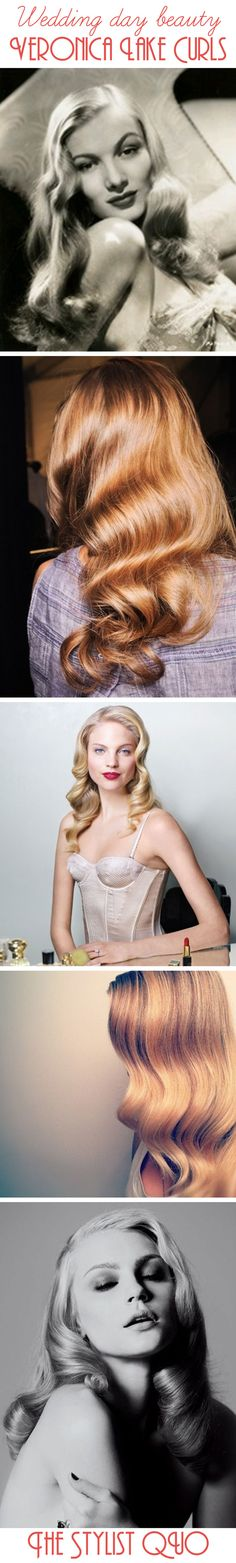 Wedding Day Beauty: Sleek Vintage Curls