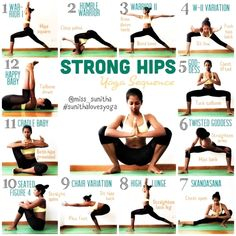 Strong hip yoga sequence to start your year strong! #YogaSequences
