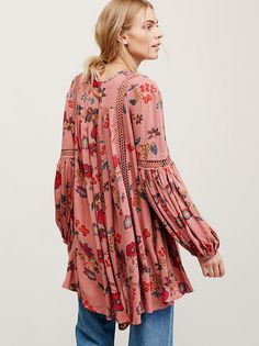 Maritza Veer || FP Just the Two of Us Printed Tunic (Faded Rose Combo)