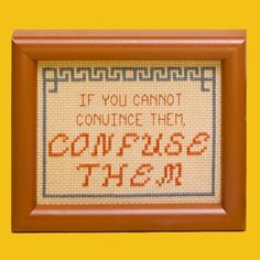 Funny sayings to cross-stitch!