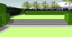 Tuinen in ontwerp - tuinarchitect creatief in groen | Minimalistische tuin met hoogteverschil | Torhout Retaining Walls, Golf Courses, Inspiration, Home, Gardens, Courtyards, Lawn And Garden, Biblical Inspiration, House