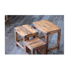 Timbergirl Handcrafted Rustic Nesting Tables (India)