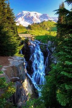 Myrtle Falls, Mt. Rainier National Park, Washington by nadia