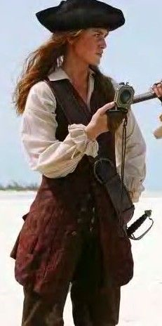 Elizabeth Swan Pirate.... Costume idea.  Particularly the vest.