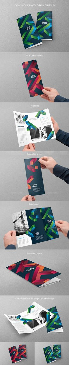 Cool Modern Colorful Trifold - Brochures Print Templates Download here : https://graphicriver.net/item/cool-modern-colorful-trifold/19485345?s_rank=8&ref=Al-fatih