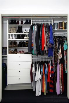 Built in wardrobe storage makeover. By Clever Closet Company