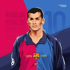 Excellent football player illustrations created by FCVectoraldo. They featured present day greats as well as past legends in a variety . Sneakers Wallpaper, Soccer Poster, Football Art, Fc Barcelona, Champions League, Graphic Design Art, Football Players, Cartoon, Retro