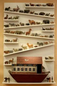 what if you actually used crooked shelves to create interest?