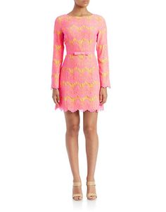 Brands | Day & Casual | Belted Lace Shift Dress | Lord and Taylor