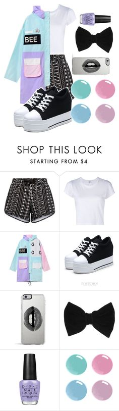 """Untitled #93"" by april-diamond ❤ liked on Polyvore featuring New Look, RE/DONE, Lipsy, claire's and OPI"