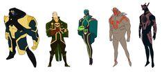 Marvel Villains by *anklesnsocks on deviantART.  I like Thanos and Kang.