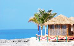 Retreat to your own cabana on the beach on Royal Caribbean's private island CocoCay in the Bahamas.