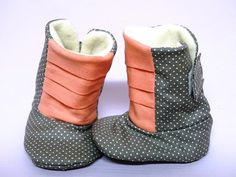 Baby Booties Handmade Shoes Newborn Baby Shower by ToastyToesies