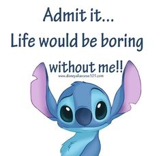 Funny Minion Memes, Funny Disney Jokes, Cute Memes, Really Funny Memes, Really Cute Quotes, Funny True Quotes, Funny Relatable Memes, Lilo And Stitch Memes, Stich Quotes
