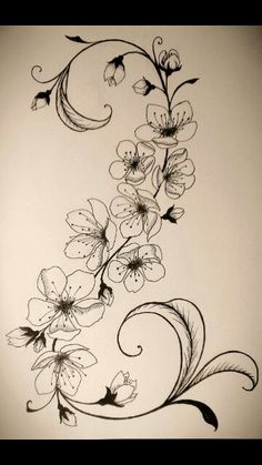 This would make a gorgeous rib cage tattoo! I love the placement idea, but I'm too scared to get one.